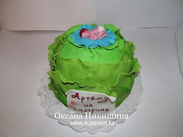 Торт Малыш в капусте