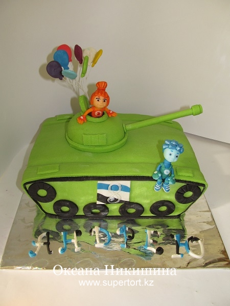 Торт Танк с фиксиками