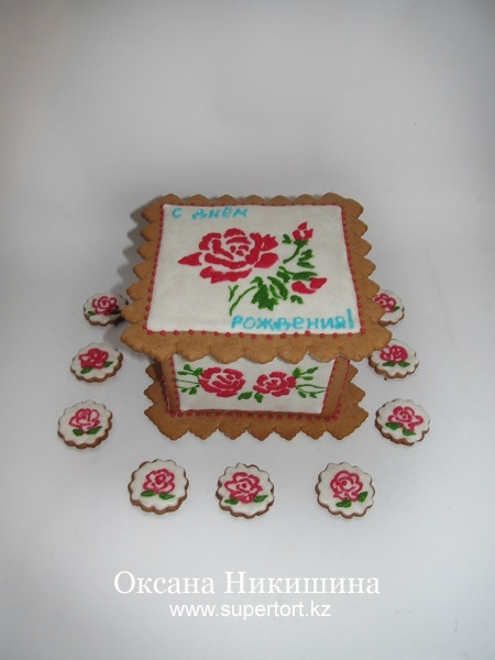 Пряничная шкатулка №2 Розы