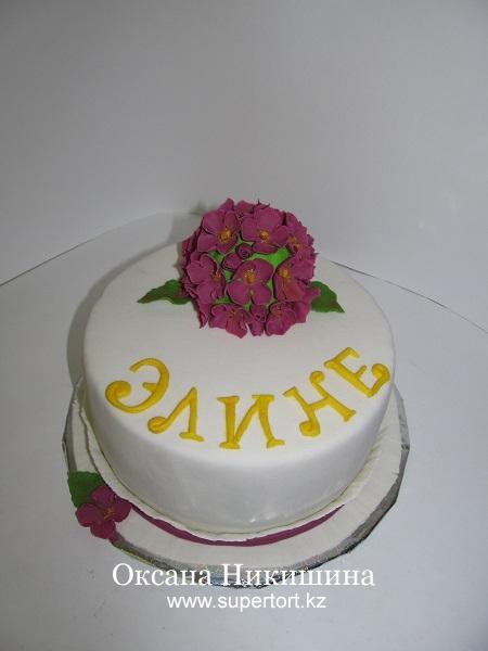 Торт Гортензия для Элины