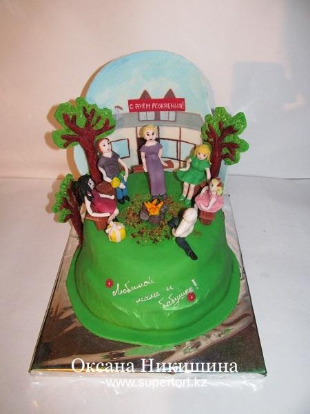 Торт По мотивам передачи Дом-2