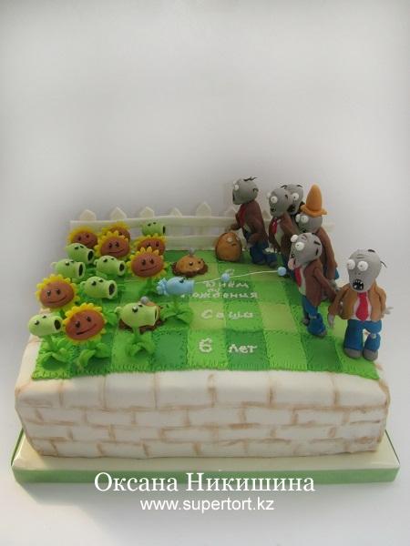 Торт Зомби против растений