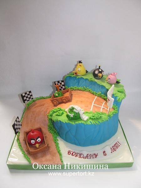 Торт Angry birds Go!