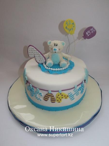 Торт Белый мишка поздравляет