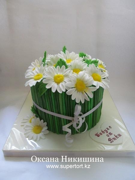 Торт Букет ромашек для бабушки