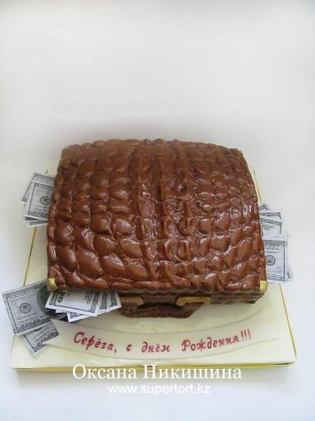 Торт Кейс из крокодиловой кожи №2