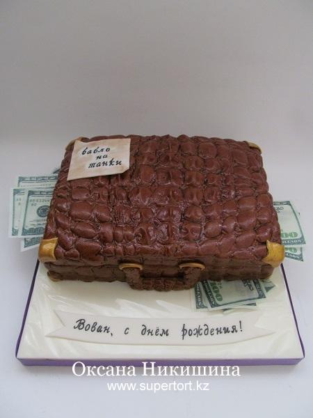 Торт Кейс из крокодиловой кожи №3