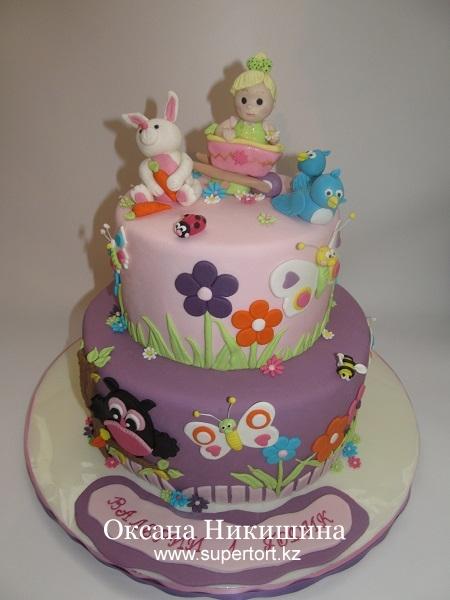 Торт Веселая поляна для Лерочки