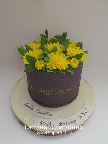 Торт Хризантемы для любимой подруги