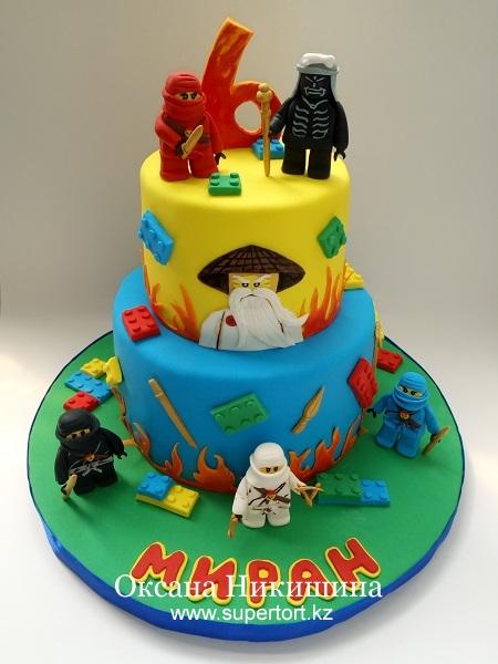 Торт Lego Ninjago Ninjas