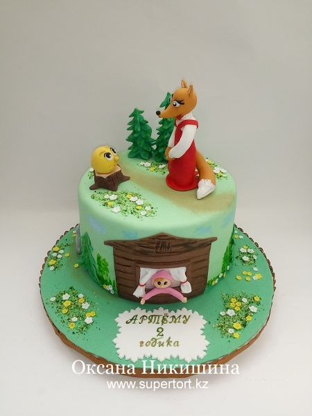Торт Сказка про Колобка