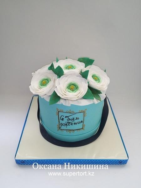 Торт Букет в шляпной коробке