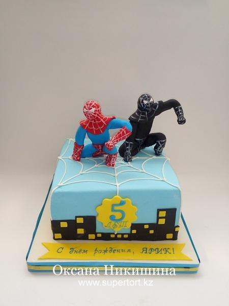 Торт Человек-паук и его тень