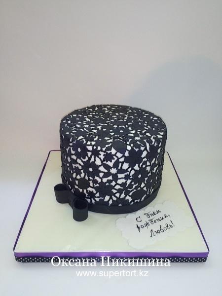Торт Черное кружево