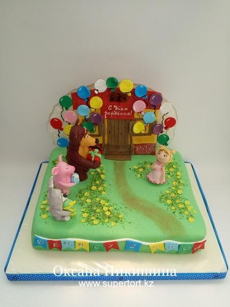 Торт Маша и Медведь. Раз в году.