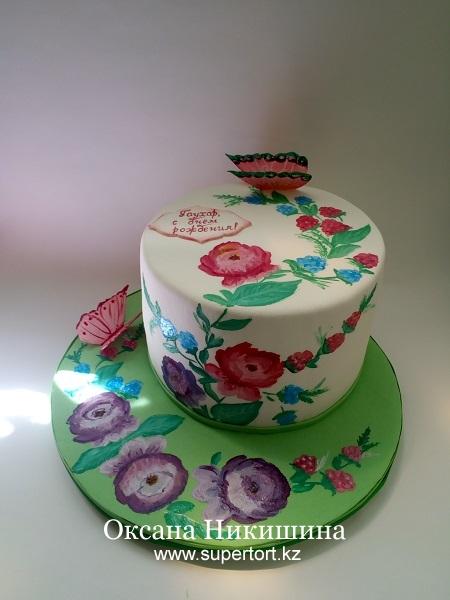 Торт Взмахом кисти...