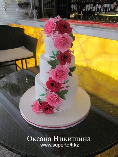 Свадебный торт Нежность и страсть
