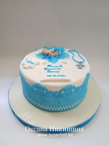 Торт Таинство крещения Романа