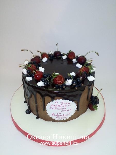 Торт Вишневый восторг в глазури