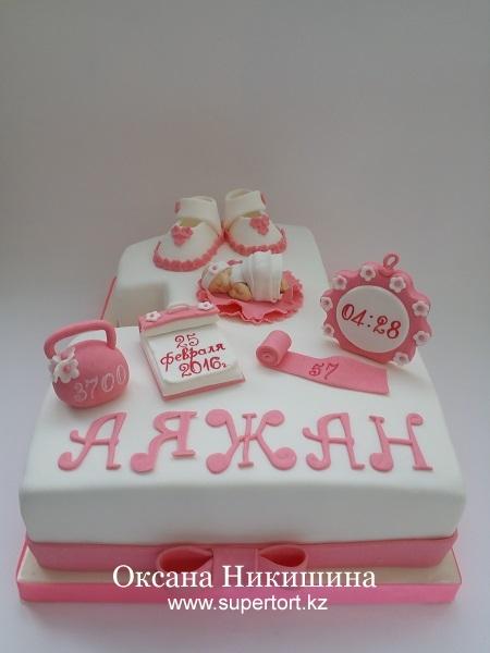 """Торт """"Аяжан 1 год!"""""""