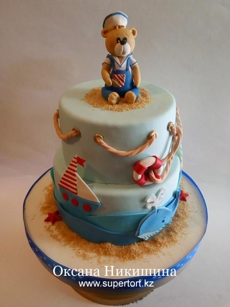 """Торт """"Мишутка-морячек"""""""