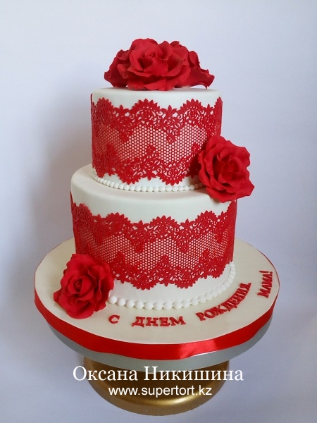 """Торт """"Леди в красном"""""""