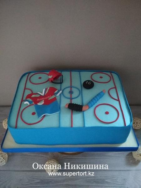 """Торт """"Юному хоккеисту"""""""