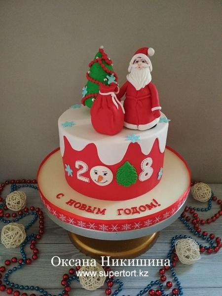 """Торт """"Дед Мороз уже в пути"""""""