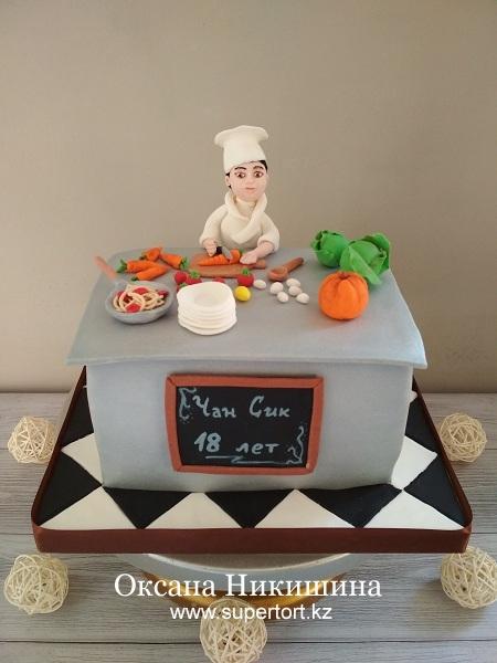 """Торт """"Юный повар"""""""