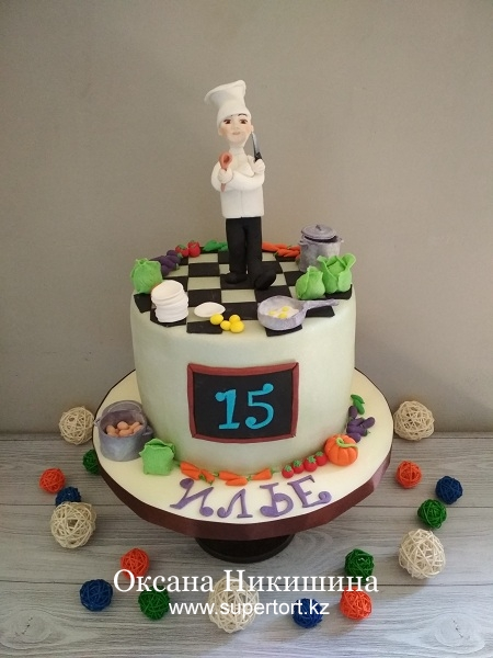 "Торт ""Юный кулинар"""