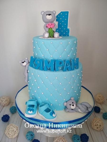 """Торт """"Мишки поздравляют Кямрана"""""""