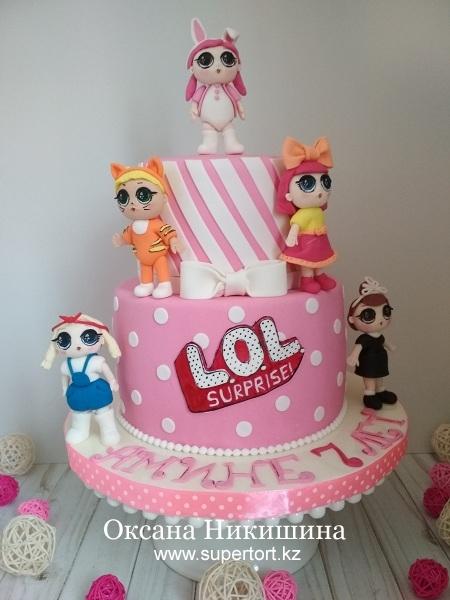 """Торт """"Куклы L.O.L."""""""