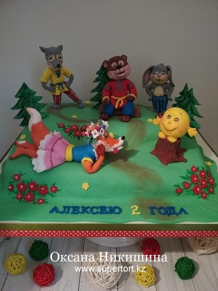 """Торт """"Любимая сказка. Колобок"""""""