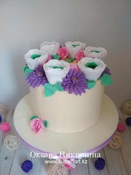 Торт «Хоровод цветов»